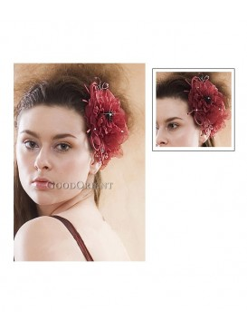 Peony Series Hair Ornament---Red Rose