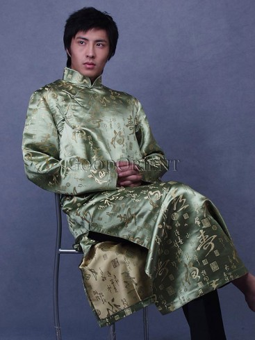 Grass Green Long Chinese Clothing