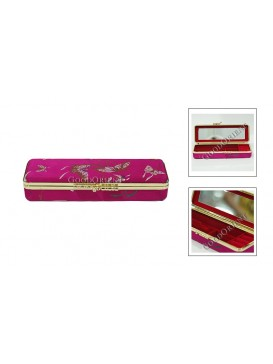 Fuchsia Quadrate Brocade Cosmetic Case