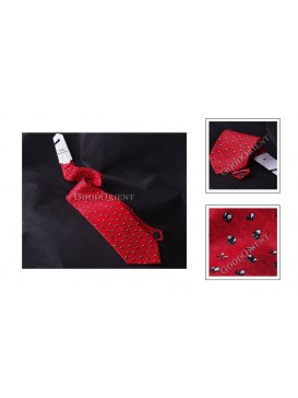 Small Panda Pure Silk Tie---Red