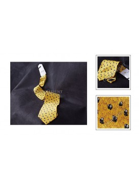 Small Panda Pure Silk Tie---Bright Yellow