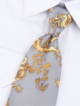 Small Dragon Pure Silk Tie