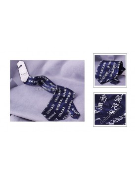 Buddhist Six Motto Pure Silk Tie