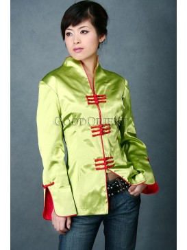 Lime Green Satin Jacket