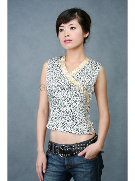 Leopard Spotted Silk Blouse