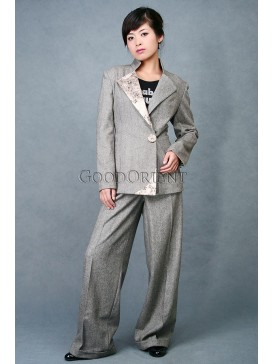 Grey Wool Working Uniform Matching Set