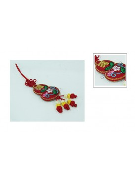 Handmade Embroidered Hanging Auto Decoration---Calabash