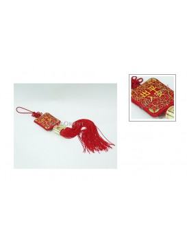 Handmade Embroidered Hanging Auto Decoration---Safety