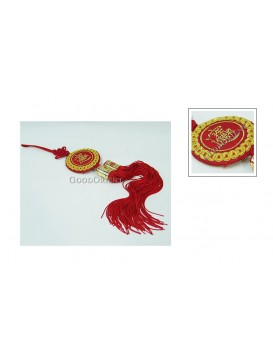 Handmade Embroidered Hanging Auto Decoration---Wealth