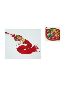 Handmade Embroidered Hanging Auto Decoration---Mandarin Ducks