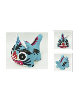 Chinese Handmade Patchwork Tiger Toy---Pale Blue