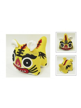 Chinese Handmade Patchwork Tiger Toy---Yellow