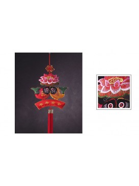 Red and Yellow Carp Hanging Decoration