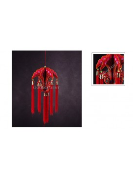 Red Peacock Handmade Hanging Decoration
