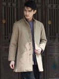 Chinese New Style Men's Long Gown