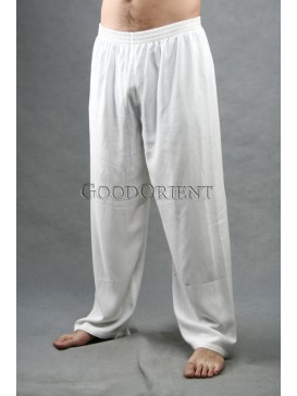 Pure Snow White Kungfu Pants