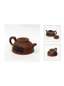 Chinese Coin Purple Sand Teapot