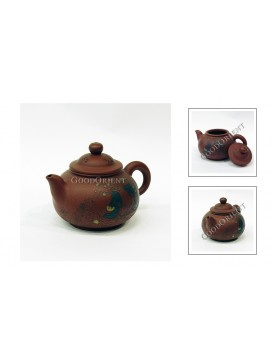 Liu Hai Playing with Golden Toad Purple Sand Teapot