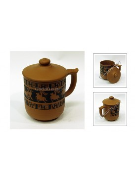 Chinese Ancient Carriage Purple Sand Tea Cup