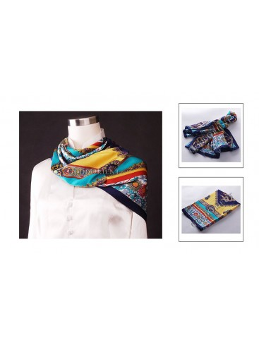Chinese Lucky Silk Square Scarf