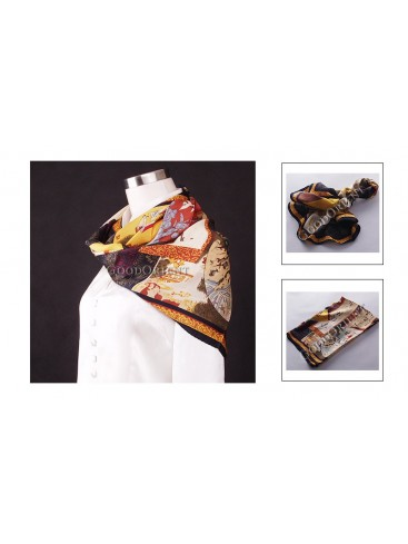 Chinese Calligraphy Silk Square Scarf