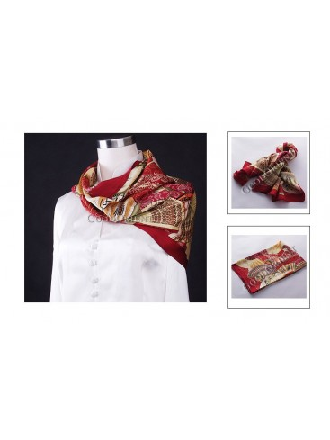 Blessing Fans Silk Square Scarf
