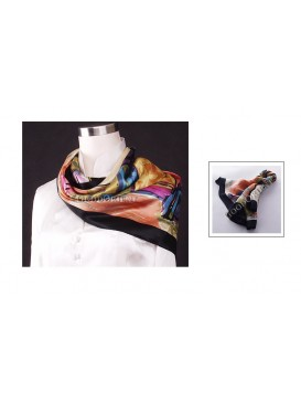Abstract Silk Square Scarf