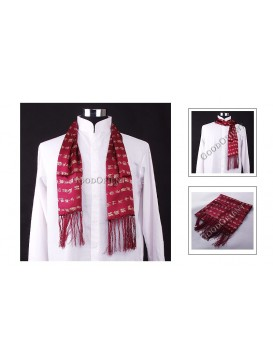 Seal Character Print on Dark Red - Mens Scarf