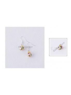 Small Floral Bead Earring