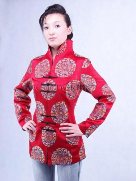 Dragon and Phoenix Chinese Red Jacket