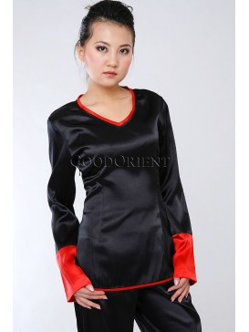 Charlie's Chinese Angel Satin Blouse