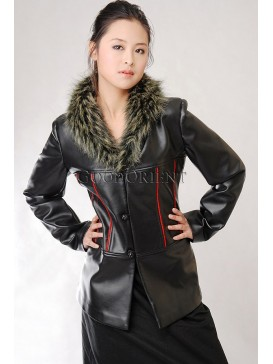 Black Mystery of Winter Leather Jacket