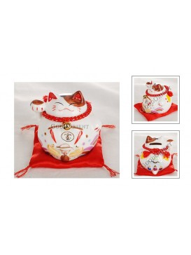 Maneki Neko Piggy Bank Series---Treasure Boat