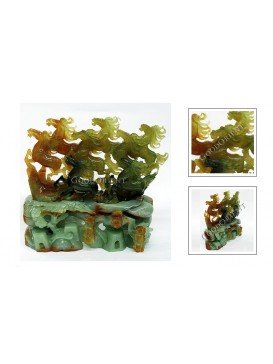 Eight Leaping Horses Jade Decoration
