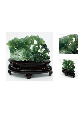 Five Rats Brings Treasures Jade Decoration