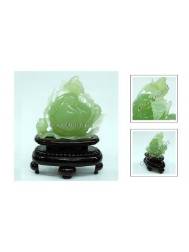 Longevity Peach Jade Decoration