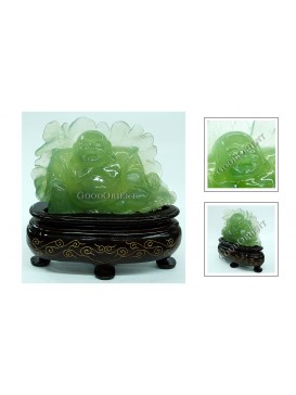 Happy Buddha Jade Decoration