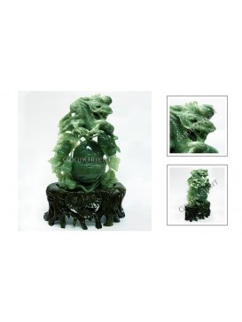 Good Fortune Calabash Blessing Great Generation Jade Decoration