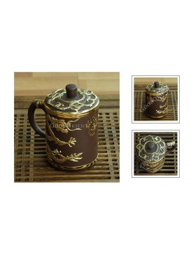 Golden Dragon Yixing Purple Sand Tea Cup