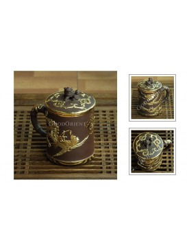 Golden Dragon and Phoenix Yixing Purple Sand Tea Cup---Small Creature