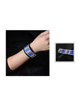 Miao Style Colorful Cloth Bracelet---Floating Wind