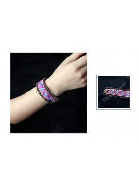 Miao Style Colorful Cloth Bracelet---Summer Flower