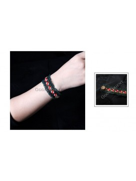 Miao Style Colorful Cloth Bracelet---Windmill