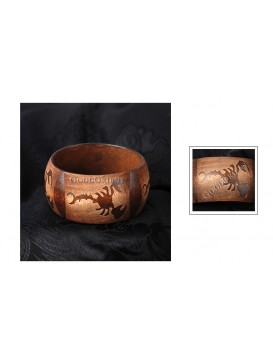 Scorpion Wide Wooden Bangle