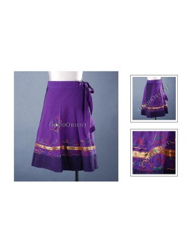 Purple Short Nepal Swathing Skirt