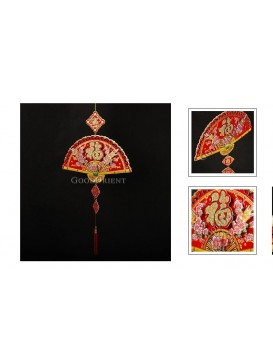 Solid Pie & Plum Blossom Fortune Hanging Decoration