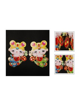 Baby Wearing Mouse Hat Celebrate New Yea Decoration Set