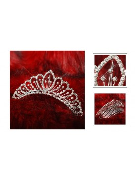 Flowery Age Series Crystal Decorative Comb---Roman Holiday
