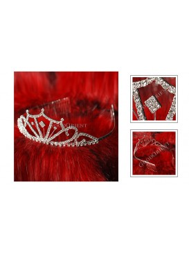 Flowery Age Series Crystal Decorative Comb---Swan Lake