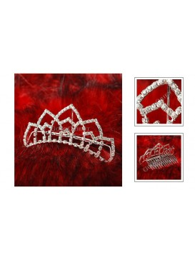 Flowery Age Series Crystal Decorative Comb---Snow Lotus